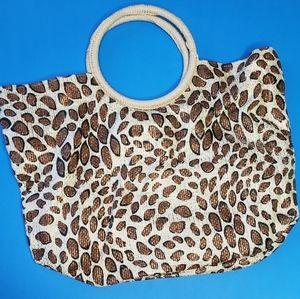 Cheetah print bag
